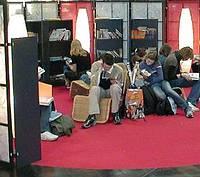 Leseinsel auf der Leipziger Buchmesse