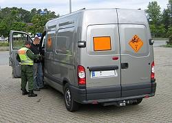 Kontrolle eines Transporters